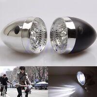 Hot Vintage Bicycle Bike Accessory Front Light Bracket Retro 3LED Headlight Lamp