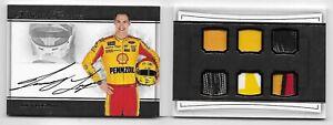 JOEY LOGANO 2017 NATIONAL TREASURES GOLD 9/15 AUTO SIX RACE-USED MATERIAL NASCAR
