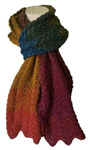 Easy Knit Chevron Scarf Double Knitting Kit With Silver-8 Colours-Free Postage