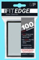 100 ULTRA PRO FIT EDGE Standard Size Black Border Inner Card Sleeves Double MTG