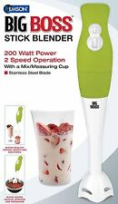 Big Boss 200 Watt Power 2-Speed Operation Hand-Stick Blender with Measuring Cup