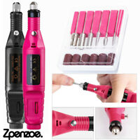 1 Set Electric Machine Manicure Nail Drill Pedicure Portable Nail Buffer File