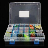 Fishing Lures 146Pcs/Box Fake Baits Set Weighted Hooks Fish Bait Starter Kit