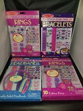 Lot Of 4 Melissa & Doug Design-Your-Own Bracelets Necklaces Headbands