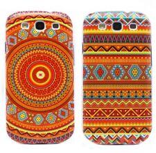 ►► Coque Samsung S3 S4  - Motif  azteque Orange/ Bleu (case cover tribal aztec)