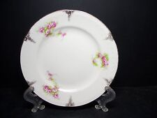 BEAUTIFUL F. WINKLE & CO EATONIA BREAD PLATE [5] - PINK ROSES - crz
