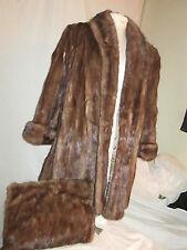 Peltz Furs Tourmaline Mink Stroller Coat 10 Plus Matching Clutch Bag