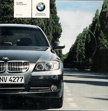 BMW 3-Series Saloon E90 Specification 2005 UK Market Brochure 320 325 330