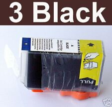3 Black ink PGI-5 W/chip Canon IP 4300 5200 MP 830 600