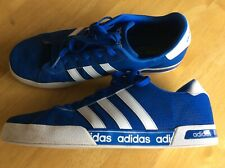 ADIDAS NEO Blue White Stripe Trainers Sneakers Comfort Footbed Size 11 Shoes