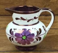 Vintage Copper Luster Ware Creamer Pitcher Old Castle China England