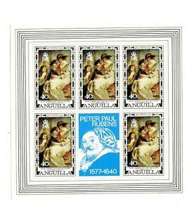 Anguilla MNH #302 Pane Rubens Art Paintings 1977 A304