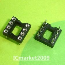 50 DIP8 Round 8Pin 8 PIN DIL IC Socket (gold plated inner)