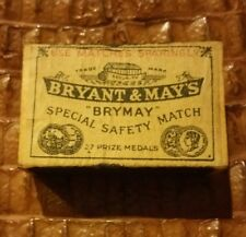 Antique Bryant & May Safety Matches Match Safe  And Original Match Box