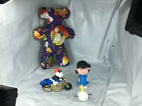 Snoopy McDonald's Set of 4 Peanuts motorcycle Lucy Woodstock & Homemade Plush FS