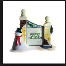 Dept 56 Dicken's Village Sign With Snowman 55727 Used