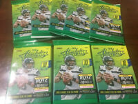 2018 ABSOLUTE FOOTBALL (8 PACK LOT) POS BAKER MAYFIELD, SAQUON BARKLEY ROOKIE RC