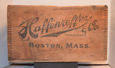 "RARE HAFFENREFFER & CO.BOSTON MA-Beer Advertising Wooden Crate/Box 12""x18.5"" EUC"