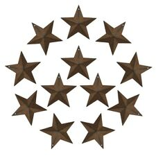3-Inch Vintage Metal Barn Star Country Crafts Garden Decoration Gift Set of 12