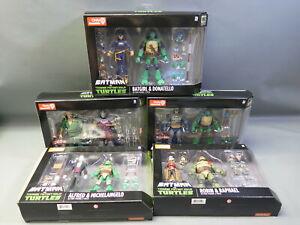 DC Collectibles Batman vs. TMNT Figures Complete Set NIB - Robin, Michelangelo