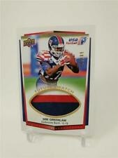 2015 UPPER DECK USA FOOTBALL DEE GREENLAW U-19 FUTURE SWATCH 3 COLOR PATCH 68/99
