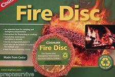 1 PK FIRE STARTER DISK WATERPROOF CEDAR EMERGENCY USE WITH HEXAMINE ESBIT STOVE