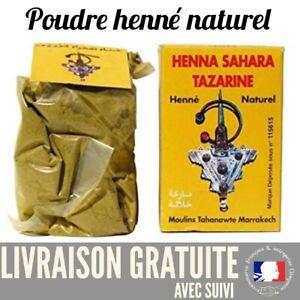 Henné Henna Tazarine Sahara NEUF 100% Naturel Sans colorant LIVRAISON GRATUITE