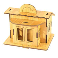Grownups 3D DIY House Model Construction Pattern Gift Woonden Toy Cartoon Puzzle