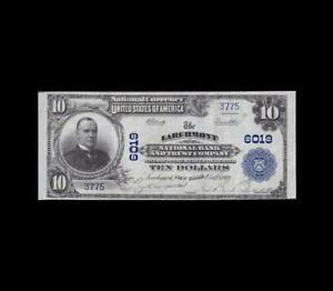 1902 $10 NATIONAL CURRENCY LARCHMONT NEW YORK ALMOST UNCIRCULATED