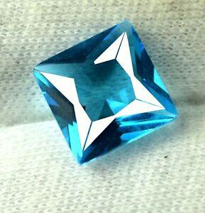Princess Cut Blue Indicolite Tourmaline 3.65 Ct Natural Gemstone Certified DB16