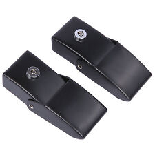 Pair Anti-Theft Locking Hood Look Catch Latches for Jeep Wrangler JK & Unlimited