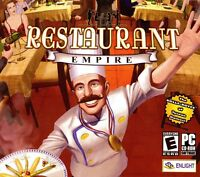 Restaurant Empire PC Games Windows 10 8 7 XP Computer business strategy sim NEW