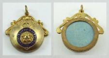 Vi 00004000 ntage Canada Rcoc post Ww Ii Brass & Enamel Converted Button Sweetheart Locket