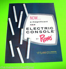 Rowe COMMANDER 1962 ORIGINAL NOS Cigarette Vending Machine Promo Fold-Out Flyer