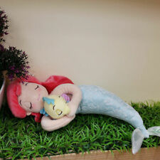 Disney Store Sleeping Ariel & Flounder Plush Doll Mermaid Toy