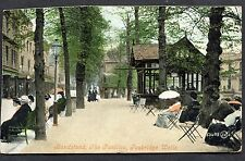 Posted 1906 View of People sitting by the Bandstand, Pantiles, Tunbridge Wells