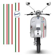 Adesivi Vespa sticker Strisce bandiera italia flag scontornate cropped 3 pz