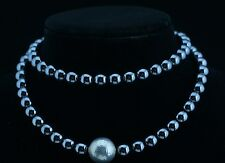 Tiffany & Co. Paloma Picasso Hematite & Hammered Silver Necklace 30in.