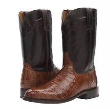 Lucchese Dustin Men's Sienna Western Boot M0700.C2 Sienna Bel Cai Dark Brown 13