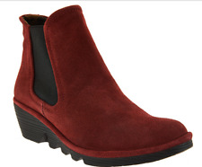 FLY London Suede Chelsea Boots - Phil Women's Booties Wine EU37 US 6.5-7 New