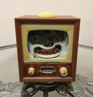 """Roman Amusements Small Musical LED TV with Rotating Train in Tunnel 5.5"""" #36433"""