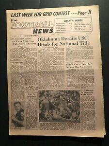 1963 Football News OKLAHOMA SOONERS #1 Navy Midshipmen ROGER STAUBACH Bears WADE