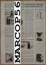 Depliant DUCATI SOGNO Fotografia Microcamera Opuscolo Illustr.ivo ORIGINALE 1947
