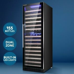 Devanti 155 Bottles Wine Cooler Compressor Fridge Chiller Cellar Home Commercial