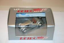 1/43  BMW 328 OPEN CABRIOLET 1938 SILVER RETRO VITESSE BROWN INT.