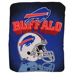 Buffalo Bills HELMET Throw Blanket 50x60 Fleece Large Lightweight Football
