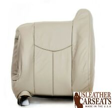 2003-2007 Cadillac Escalade Driver Side Lean Back Leather Seat Cover Neutral Tan