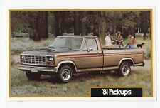 1981 FORD Ranger XLT Pick-up Truck Advertising Postcard