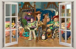 WALL STICKERS 3D Effect Window TOY STORY decorative sticker to the room 18