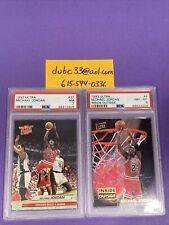 1992-93 Ultra #27 & #4 Michael Jordan PSA 7 8 Lot Insert (2)